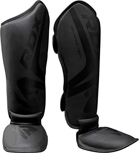 RDX MMA Schienbeinschoner Kämpfe Boxen Training Schutzausrüstung Leder Konvexe Haut Muay Thai Bein Protector Gut für Sparring, Kickboxen, Karate, BJJ (MEHRWEG)