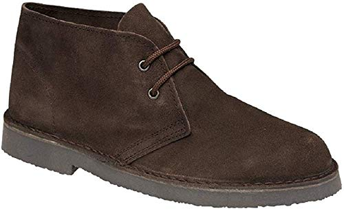 Roamers Unisex Wildleder-Schuhe, Dunkelbraun, braun - brauntöne - Größe: 47