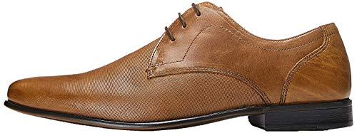 find. Amos Derby Schuhe Herren mit Struktur und Blockabsatz, Braun (Napa Tan), 44 EU
