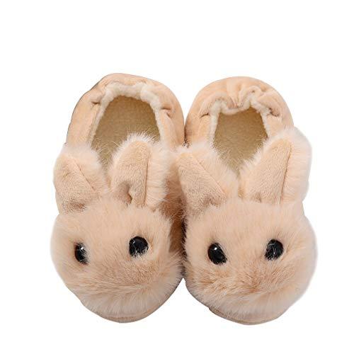 KVbaby Jungen Mädchen Tier Baumwolle Aus Gewirken Hausschuhe Kleinkind Winter Wärme Pantoffeln Indoor rutschfeste Weiche Leicht Hausschuhe