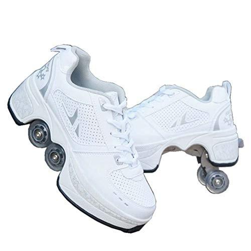 Fbestxie Unisex-Kinder Skateboard Schuhe Kinderschuhe mit Rollen Skate Shoes Rollen Schuhe Sportschuhe Laufschuhe Sneakers mit Rollen Kinder Jungen Mädchen,38