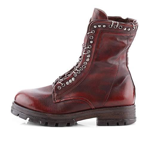 AS98 | Airstep | 549206 Stiefelette Kalbsleder | Nieten Leder Sequoia, Farbe: rot (39 EU)