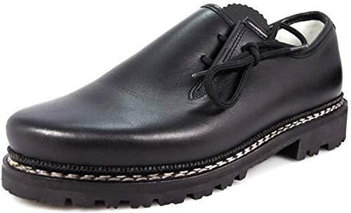 Meindl Haferl-Schuhe Trachtenschuhe 86M Herren Profilsohle schwarz Gr. 45 EU