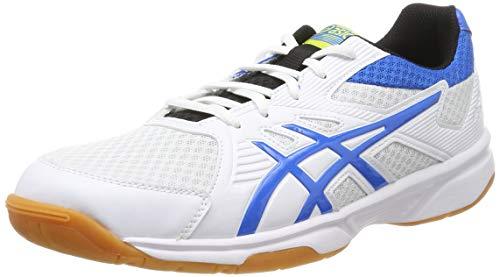 ASICS Herren Upcourt 3 1071A019-104 Volleyball-Schuh, White/Electric Blue, 42 EU