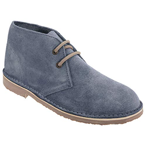 Roamers Damen Desert Boots/Wüstenstiefel/Schuhe, Wildleder, ungefüttert (38 EU) (Denim Blau)