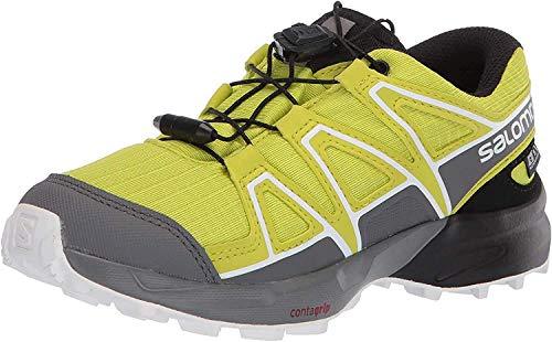 Salomon Kinder Trail Running Schuhe, SPEEDCROSS CSWP J, Farbe: grün (Evening Primrose/Quiet Shade/Black), Größe: EU 37