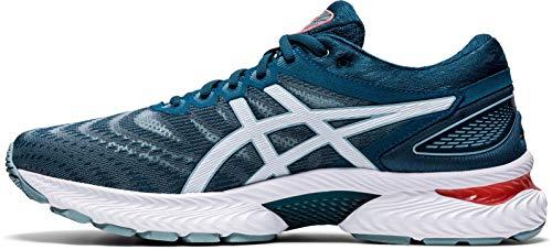ASICS Mens Gel-Nimbus 22 Running Shoe, Light Steel/Magnetic Blue,42.5 EU