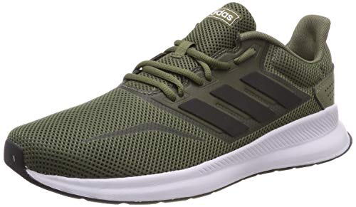 adidas Herren Runfalcon Laufschuhe, Grün (Raw Khaki/Core Black/Footwear White 0), 43 1/3 EU