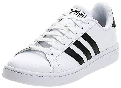adidas Mens Grand Court Sneaker, Cloud White/Core Black/Cloud White, 44 2/3 EU