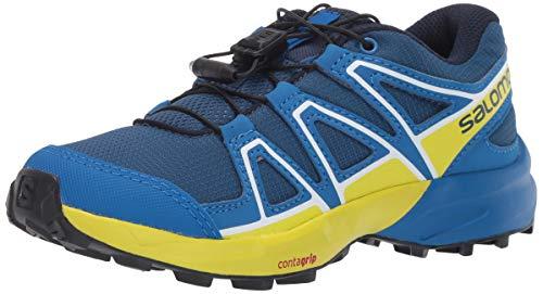 Salomon Kinder Trail Running Schuhe, SPEEDCROSS J, Farbe: blau/gelb (Poseidon/Sky Diver/Sulphur Spring), Größe: EU 36