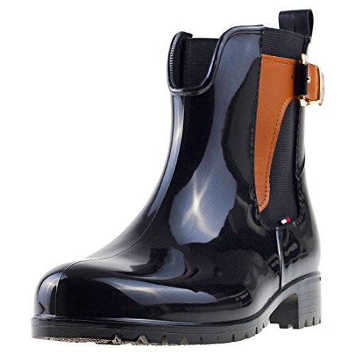 Tommy Hilfiger Damen O1285XLEY 2Z2 Schlupfstiefel, Mehrfarbig (black-winter Cognac 990), 40 EU