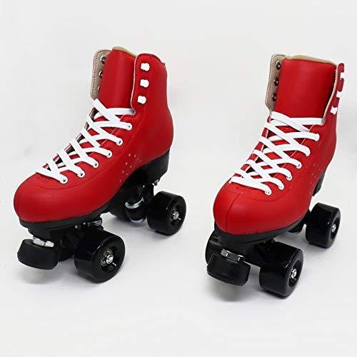 LAYBAY Rollschuhe Zweireihige Rollschuhe Erwachsene Allrad Anfänger Rollschuhe PU Rollschuhe Professionelle Herren- Und Damen-Skateschuhe EU30~48