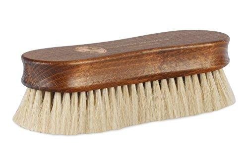 Langer & Messmer Premium Schuhbürste aus hellem Rosshaar zum Polieren Ihrer Schuhe - Die Premium Polierbürste für die professionelle Schuhpflege