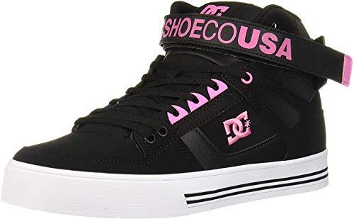 DC Damen Pure High-Top V (hoher Schaft), schwarz/pink, 37 EU