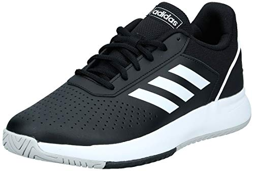 Adidas Herren Courtsmash Tennisschuhe, Mehrfarbig (Negbás/Ftwbla/Gridos 000), 44 2/3 EU