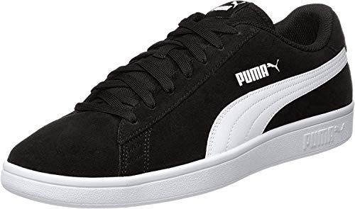 PUMA Unisex-Erwachsene Smash V2 Sneaker, Schwarz (Puma Black-Puma White-Puma Silver), 43 EU