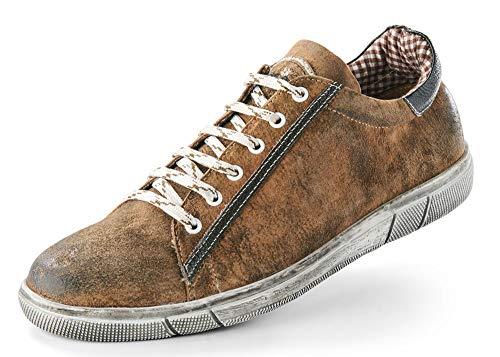 Maddox Herren Trachten Schuhe Sneaker Siegfried - Wood Nappato Gr. 41