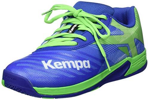 Kempa Unisex-Kinder Wing 2.0 JUNIOR Handballschuhe, Grün (Azur/Vert Printemps 01), 32 EU