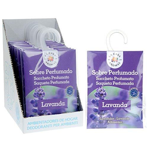 La Casa de los Aromas Set mit 12 Duft-Umschlägen, Lavendel-Duftsäckchen für Kleiderschrank, Schublade, Babykleidung, Schuhschrank, Koffer