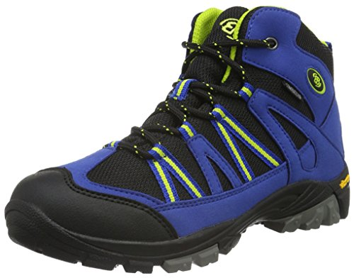 EB kids OHIO HIGH, Jungen Trekking- & Wanderstiefel, Blau (Blau/schwarz/lemon), 29 EU (11 Kinder UK)