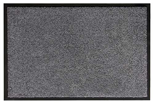 andiamo Schmutzfangmatte Fußabtreter Türmatte Fußmatte Sauberlaufmatte Schmutzabstreifer Türvorleger – Eingangsbereich In/Outdoor – rutschhemmend waschbar grau Polypropylen– 80x120 cm – 5 mm Höhe
