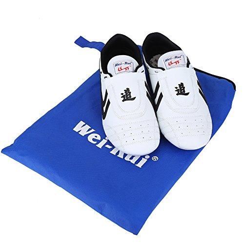 Taekwondo Schuhe, Kampfsport Sneaker Boxen Karate Schuhe schwarz Streifen Turnschuhe Leichte Schuhe für Männer Frauen Erwachsene Kinder schwarz weiß
