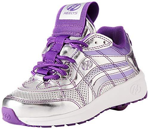 Heelys Mädchen Nitro Sneaker, Silber (Silver/Violet Silver/Violet), 31 EU