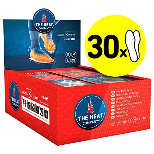 THE HEAT COMPANY Sohlenwärmer - 30 Paar - EXTRA WARM - Wärmesohlen - Fußwärmer - 8 Stunden warme Füße - sofort einsatzbereit - luftaktiviert - rein natürlich - Größe MEDIUM: 39-41