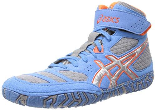 ASICS Herren Aggressor 2-m, Dusty Blue/Silver/Red Orange, 46 EU