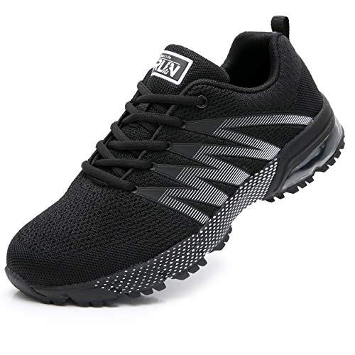 Axcone Damen Herren Sneaker Laufschuhe Air Sportschuhe Kletterschuhe Turnschuhe Running Fitness Sneaker Outdoors Straßenlaufschuhe Sports 8995 BK 43EU