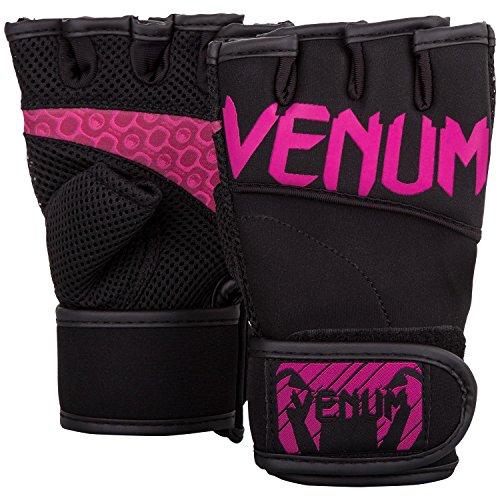 Venum Damen Aero Fitness Handschuhe, Schwarz/Neon Rosa, L/XL
