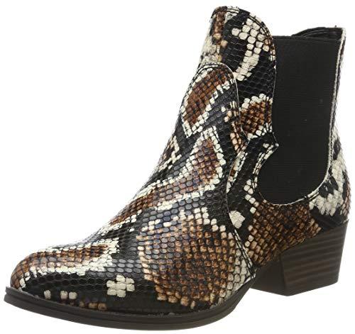 Tamaris Damen Stiefeletten Braun/Snake, Schuhgröße:EUR 39
