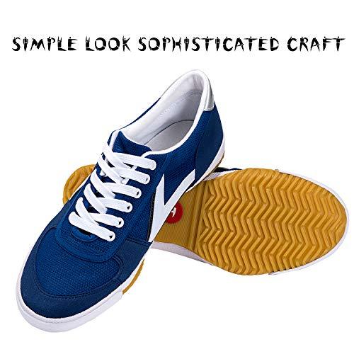 TT4ALL Kung-Fu-Schuhe mit Gummisohle, atmungsaktiv, leicht, klassisch, blau, aus Segeltuch, für Kampfsport, Tai Chi, Joggen, Walking, Radfahren, Training, Sneaker für Herren/Damen
