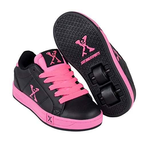 Sidewalk Sport Lane Kinder Maedchen Rollen Schuhe Turnschuhe Rollschuhe Sneaker Black/Pink 4